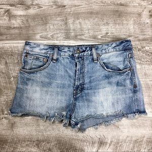 EUC Free People High Waisted Cutoff Jean Shorts